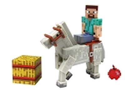 Click to get Minecraft Steve with White Horse 2 Pack