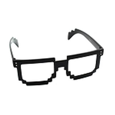 Click to get Pixel Hipster Glasses Black Clear Lenses