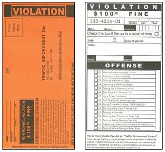 joke parking ticket template. Black Bedroom Furniture Sets. Home Design Ideas