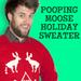 Screen Print Ugly Holiday Sweatshirt: Pooping Moose