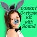Donkey Costume Set with Sound